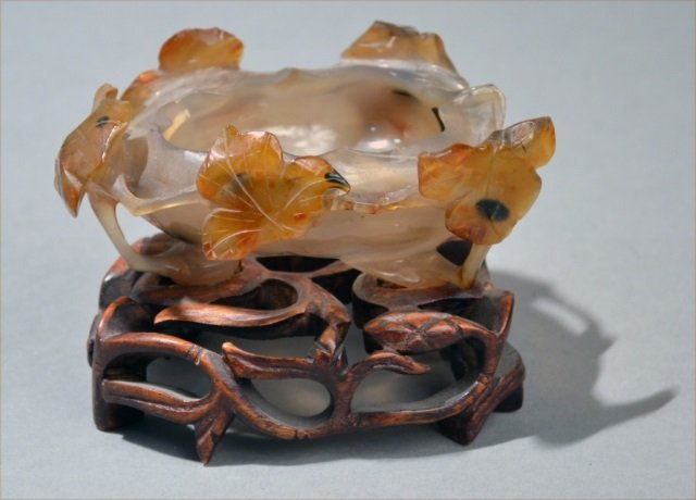 Chinese Carved Agate Bowl