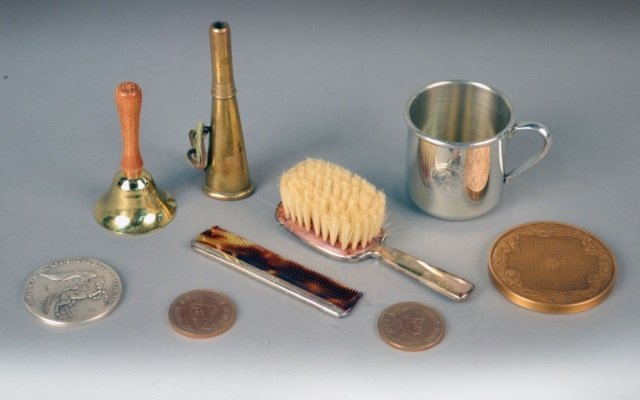 Cartier Sterling Silver Baby Brush and Comb