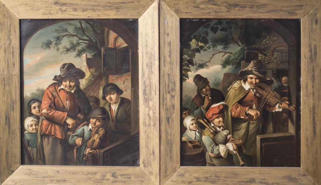 Two by Christian W E Dietrich (German, 1712-1774)