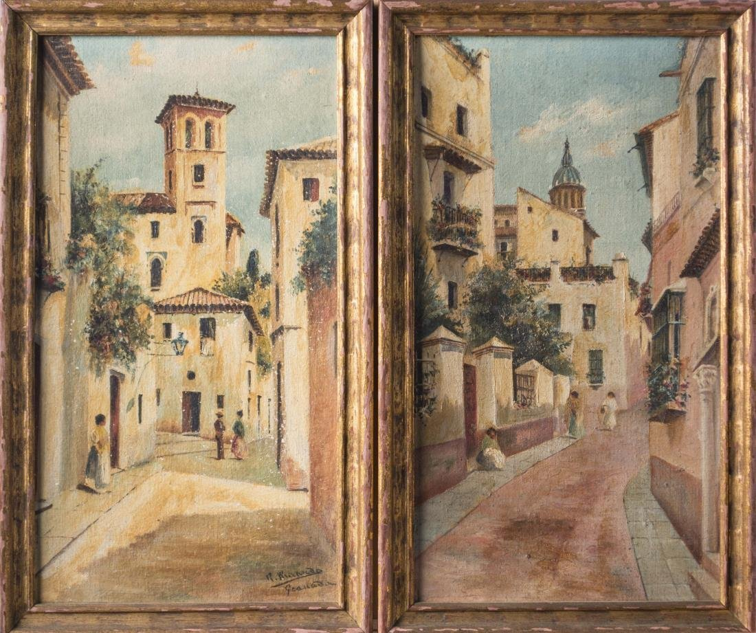 Pair of Spanish School (20th Century)