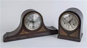 Two Vintage American Mahogany Mantle Clocks