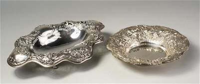 Two Sterling Silver Dishes