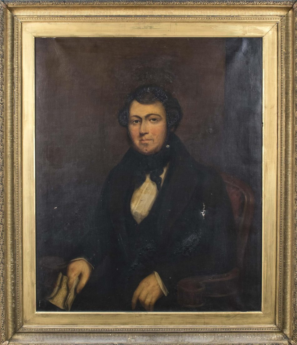 Portrait of a 19th Century Gentleman with Note