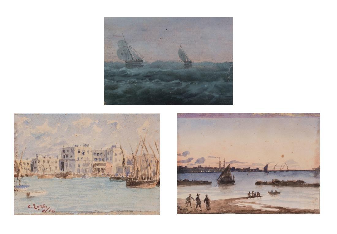 Three 19th-20th Century Ship Paintings