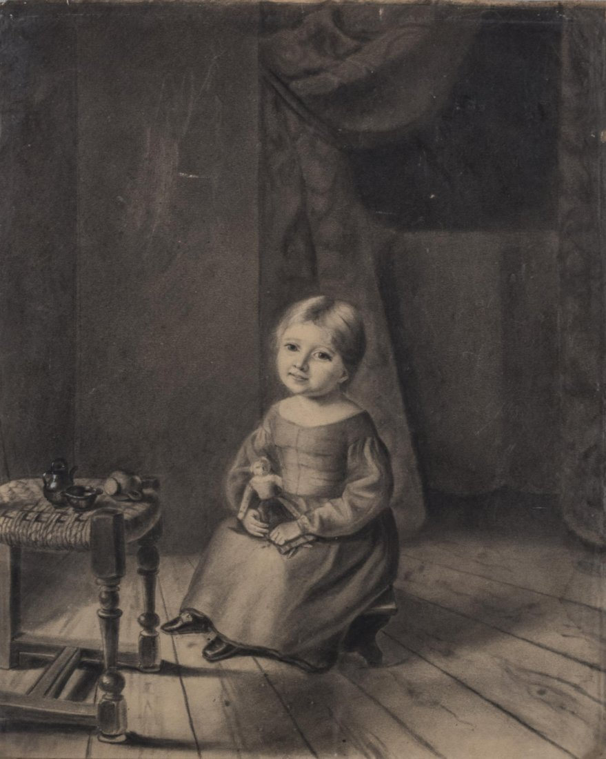 French School, Drawing of a Girl