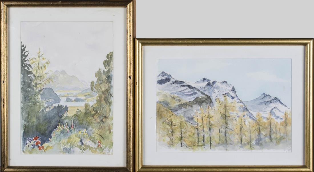 Pair of Watercolor Landscapes
