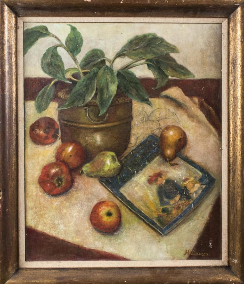 H. Davies, Still Life with Fruit