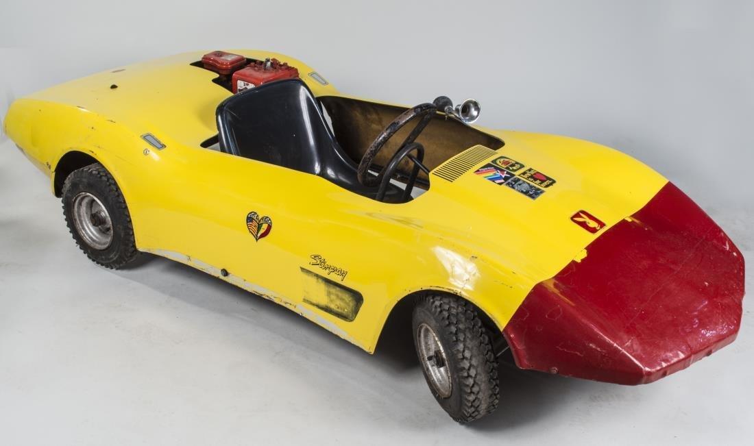 Yellow 1970's Corvette Stingray Go Kart