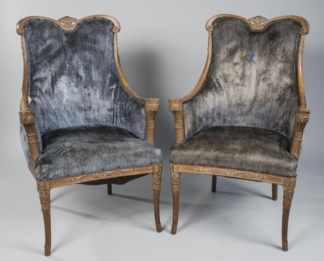 Pair of Grosfeld House Occasional Chairs