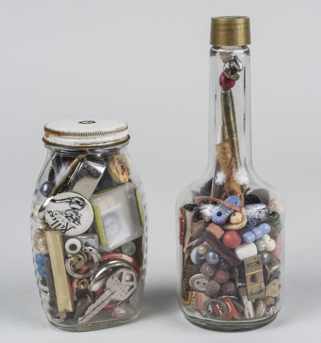 Two John Evans Assemblage Sculptures
