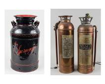 Two Vintage Copper Fire Extinguishers