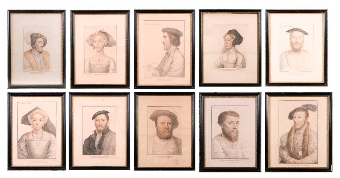 Ten Engravings of Nobility by Francesco Bartolozzi