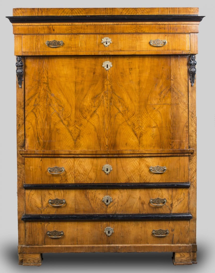 Parcel Ebonized Chestnut Fall Front Secretaire   *
