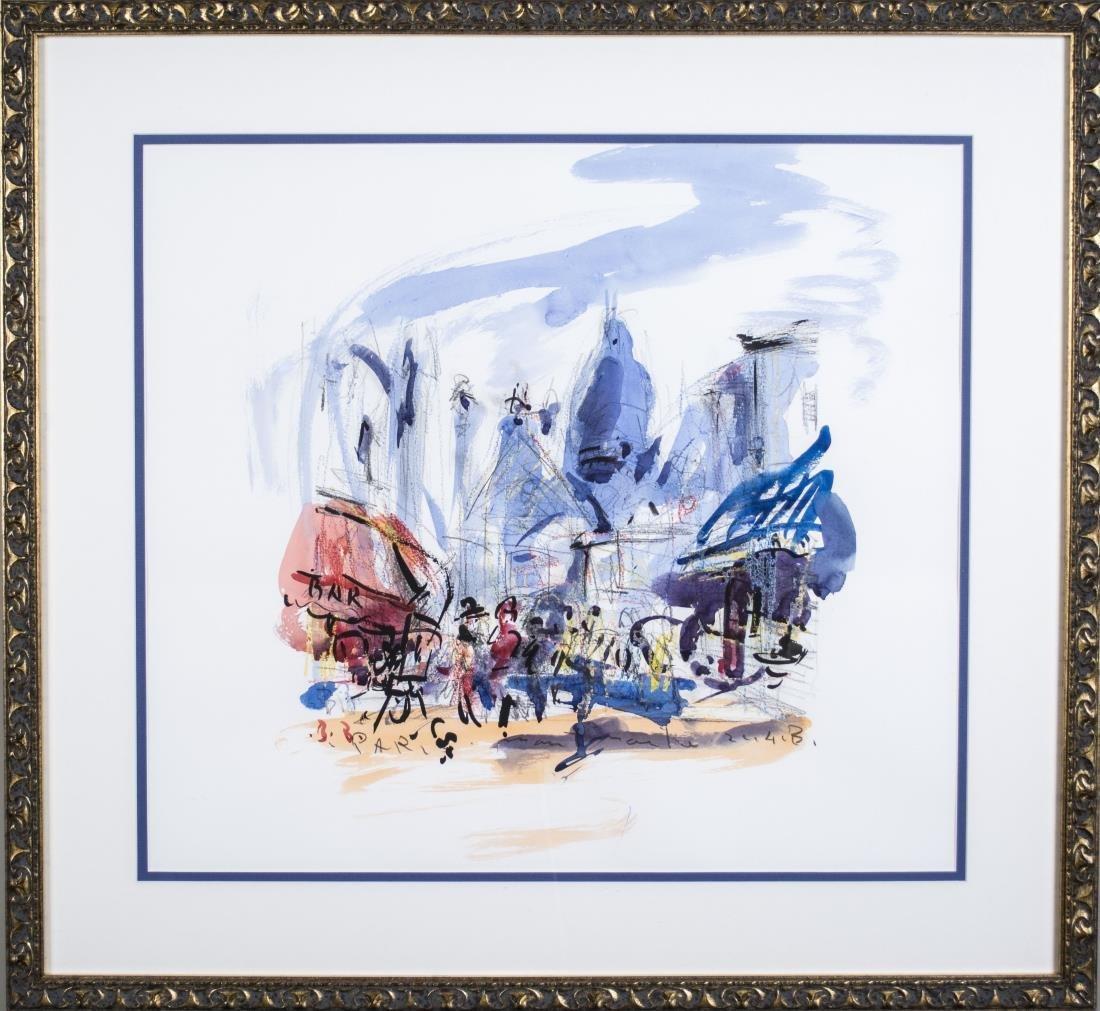 Watercolor of Paris (20th Century)