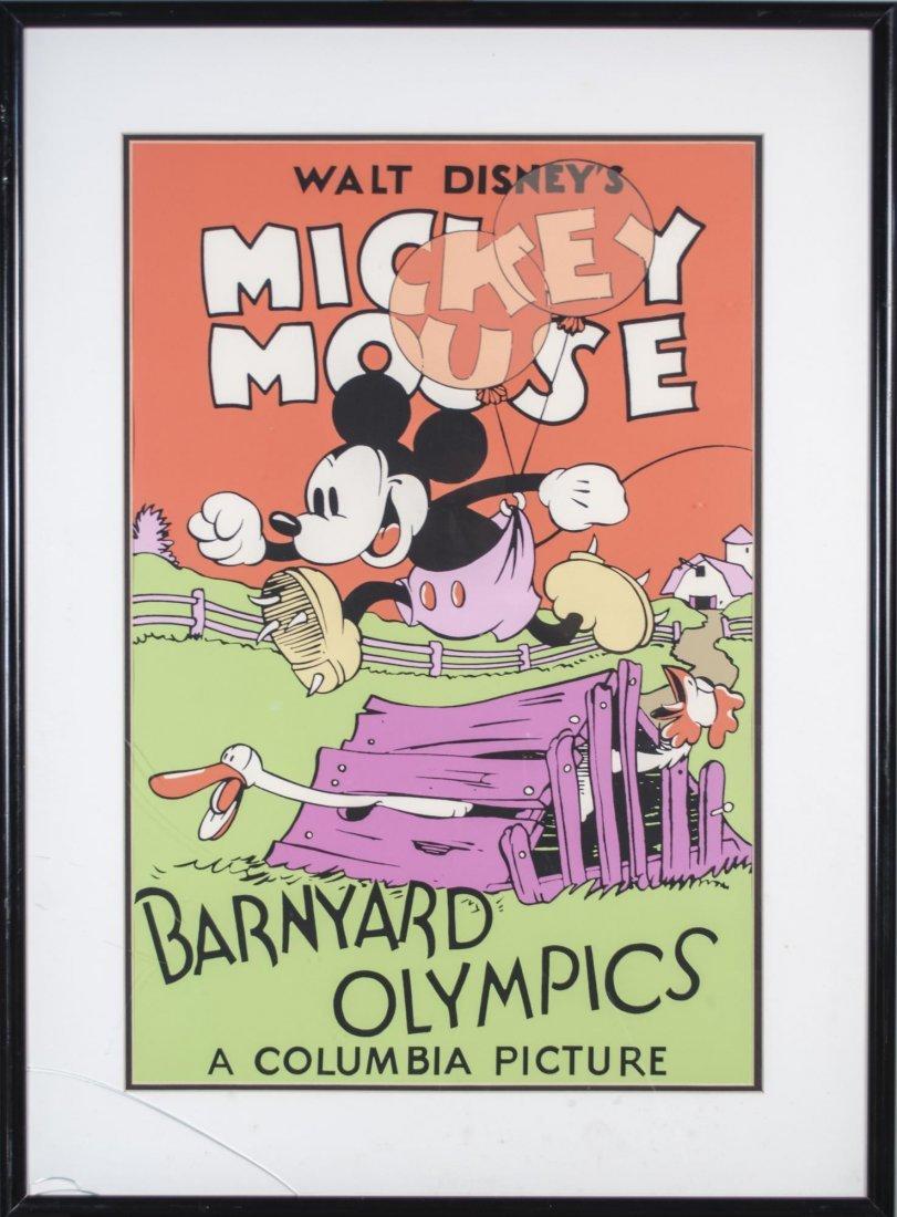 Mickey Mouse Barnyard Olympics Poster