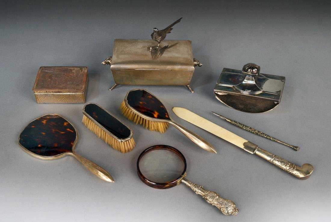 Miscellaneous Group of Desk & Dresser Articles
