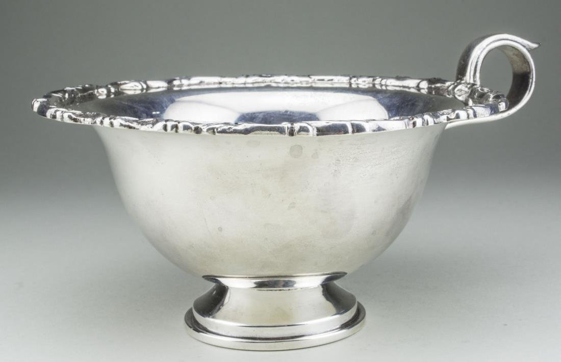 Mexican Sterling Silver Pedestal Bowl * - 2