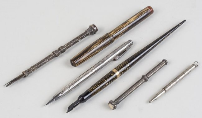Group of Vintage Pens and Pencils