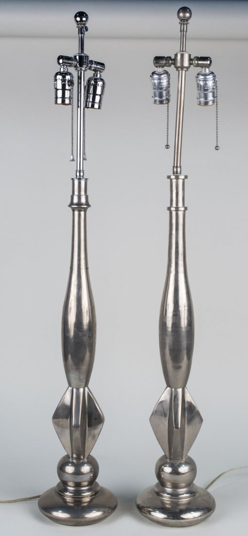 Pair of Two Light Lamps