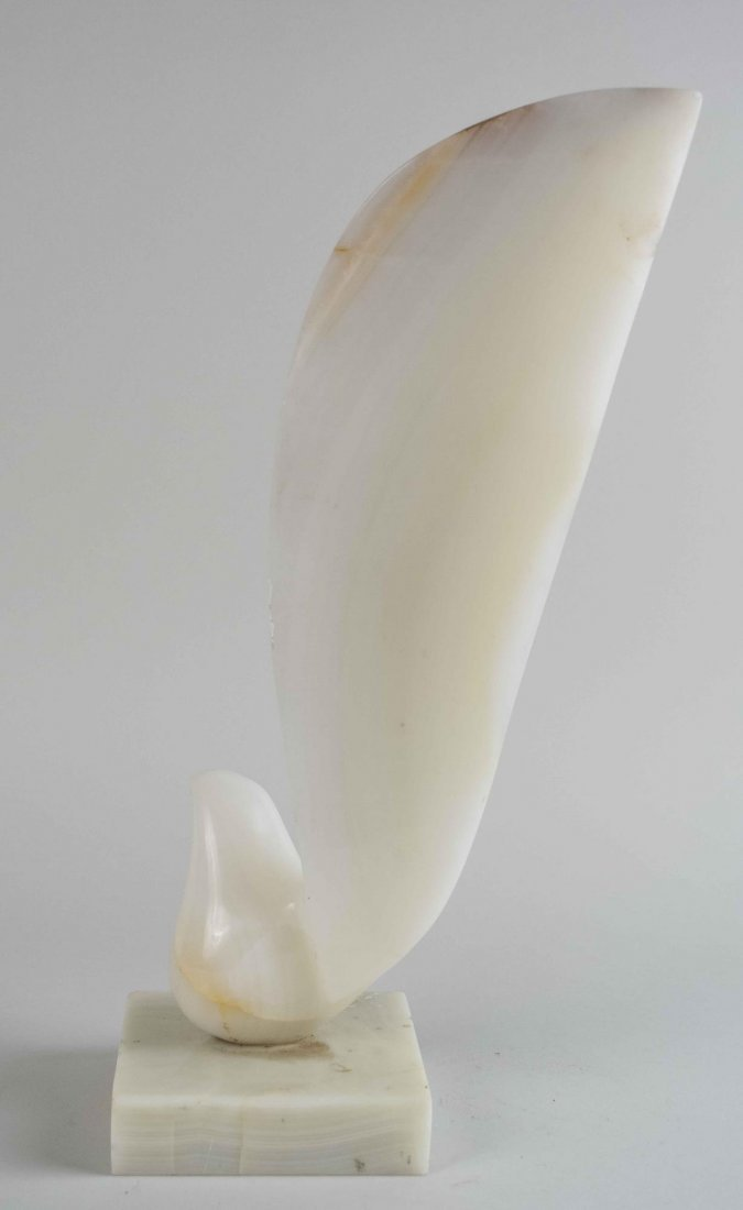 Abstract Carved Onyx Sculpture - 2