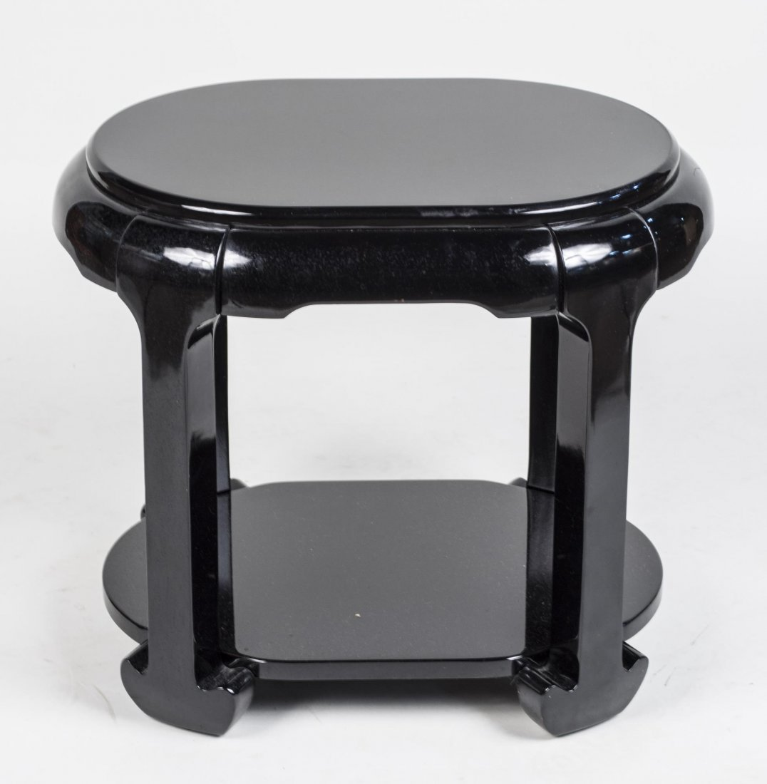 Black Lacquered Low Table