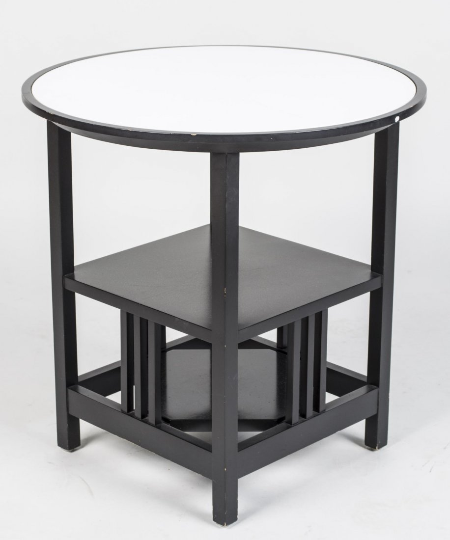 Charles Gwathmey Style Three Tier Occasional Table