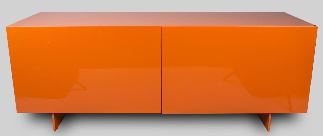 Piero Lissoni Orange Lacquered Cabinet
