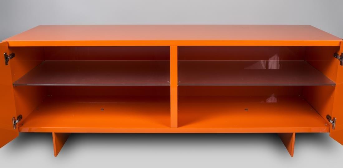 Piero Lissoni Orange Lacquered Cabinet - 2