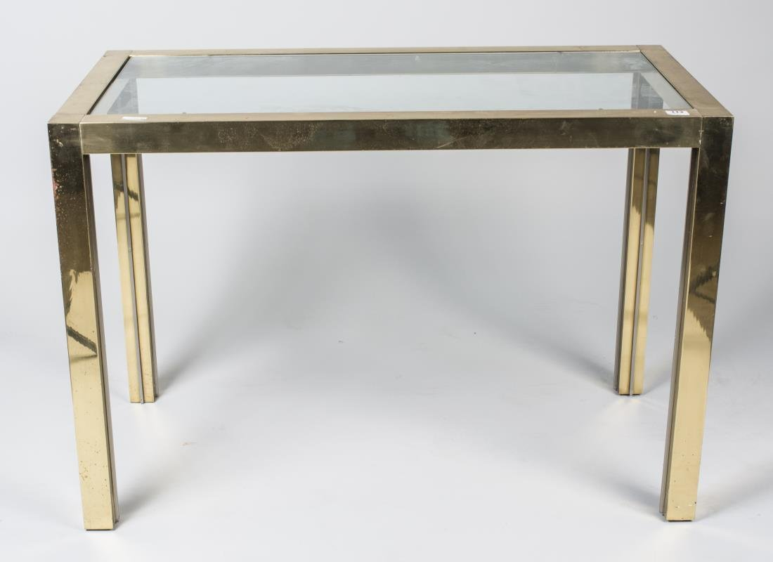 Glass Top Brass Table
