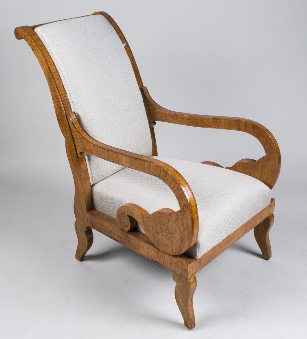 Pair of Burl Wood Armchairs   * - 2