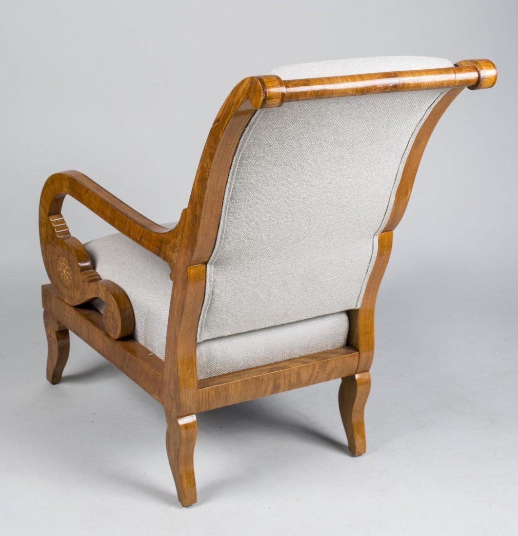 Pair of Burl Wood Armchairs   * - 3
