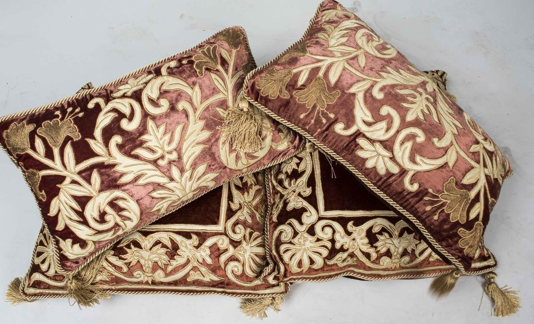 Set of Four Decorative Throw Pillows