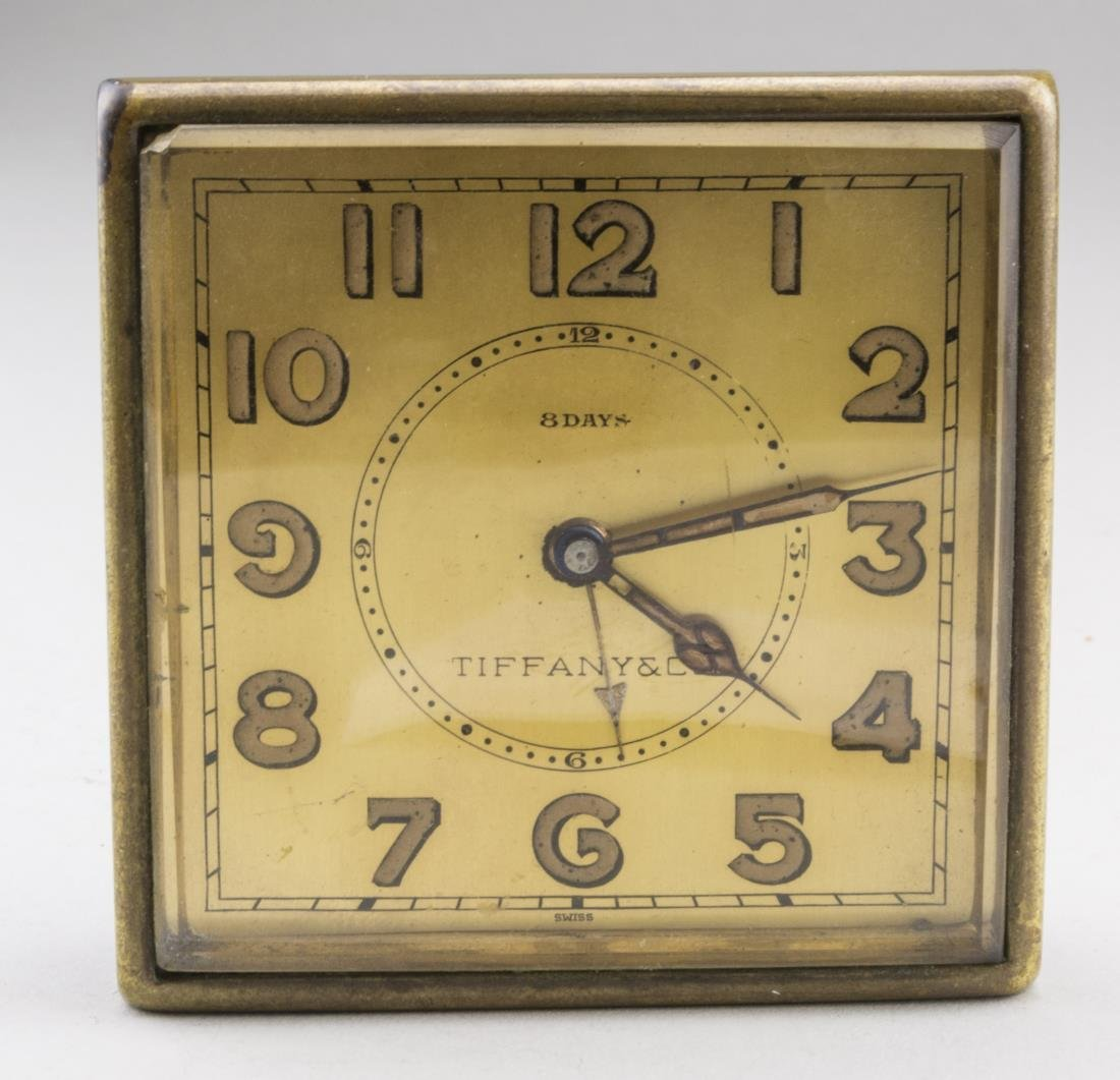 Tiffany & Co. Eight Day Desk Clock