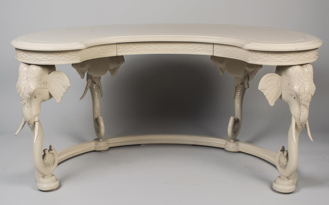 White Lacquer Hunt Table