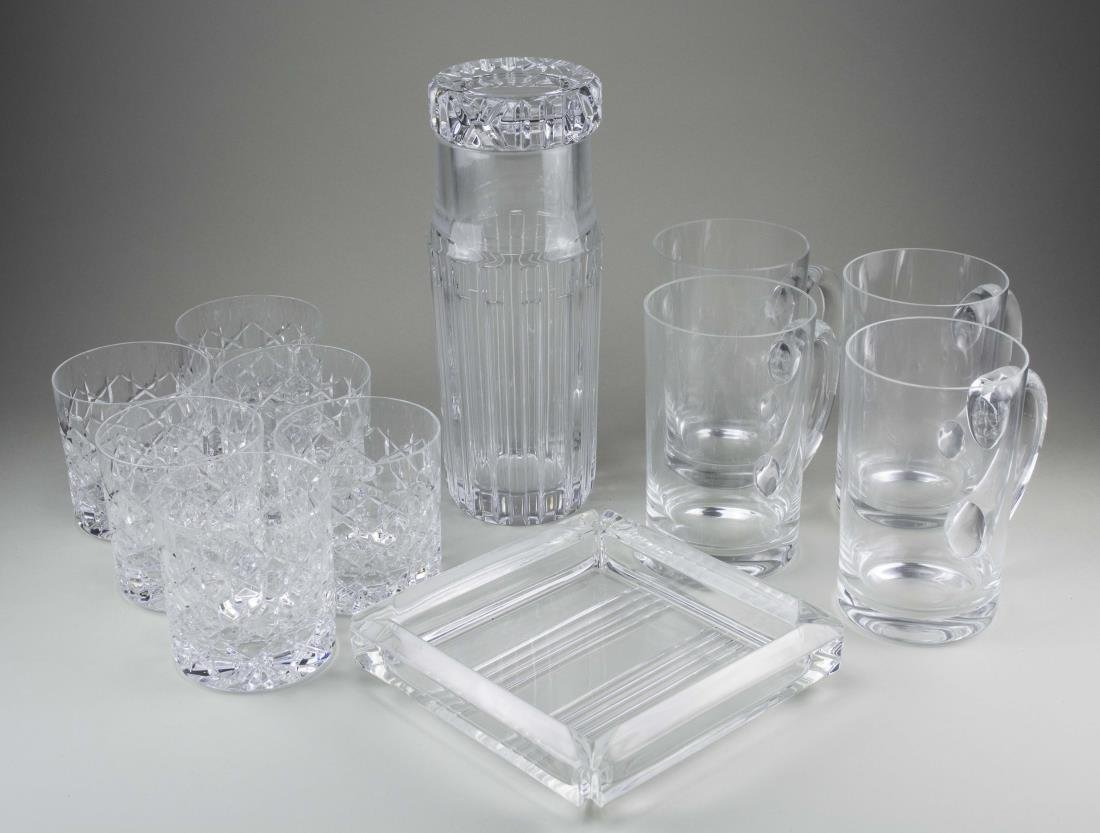 Group of Tiffany & Co. Glass Table Articles