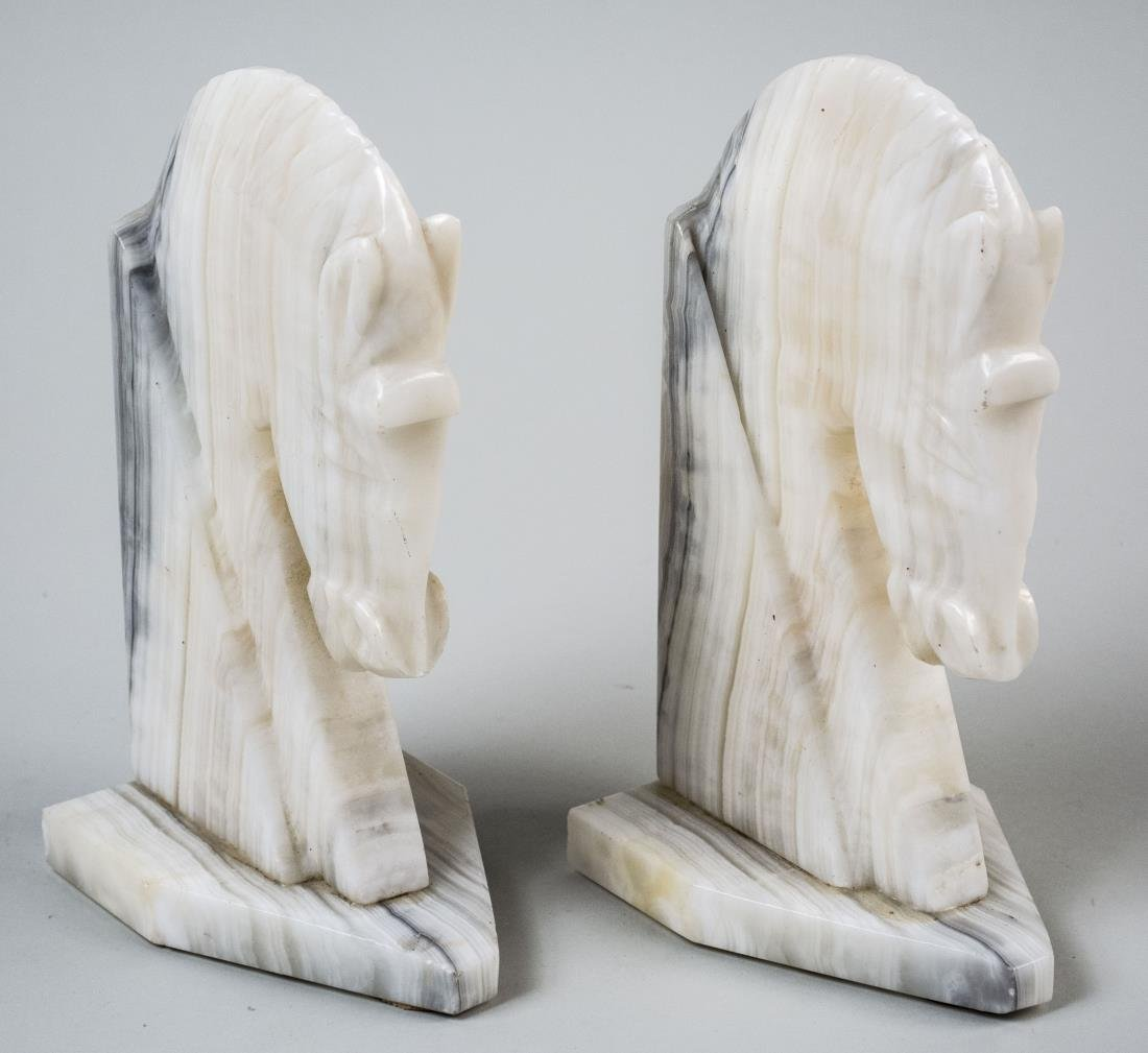 Pair of Marble Bookends
