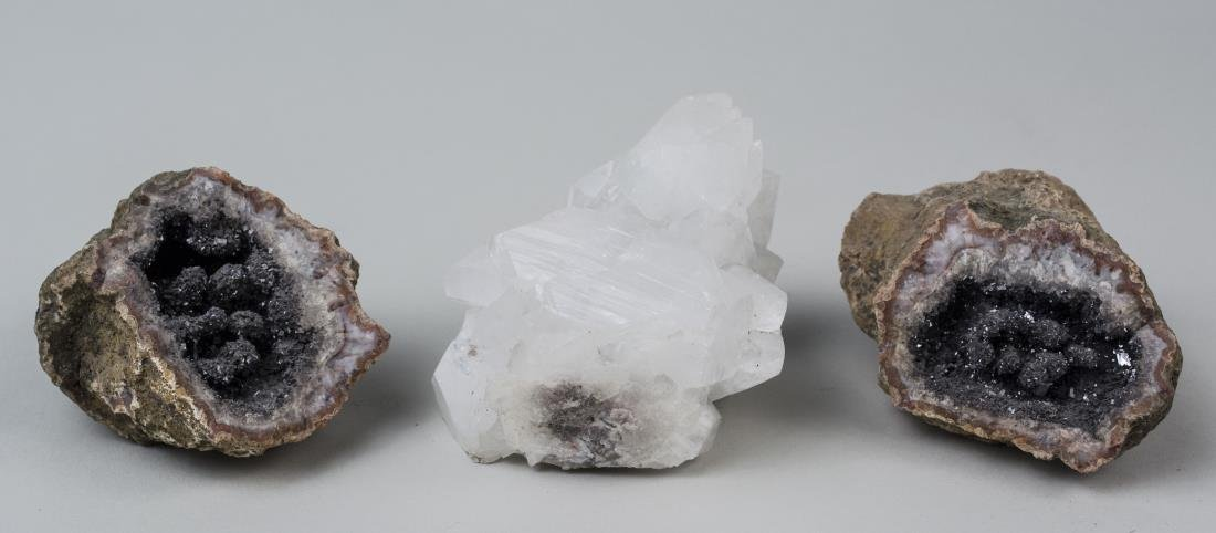 Three Mineral Crystals