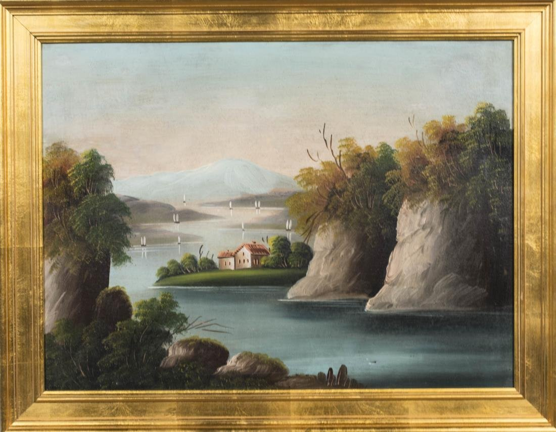 Primitive Style Landscape of a River