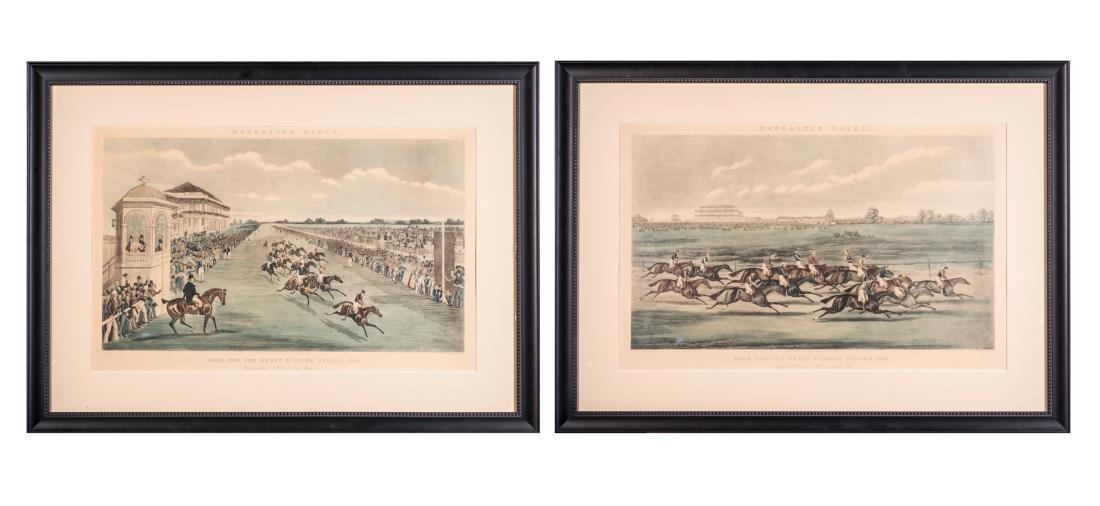 Pair of James Pollard Doncaster Races Prints