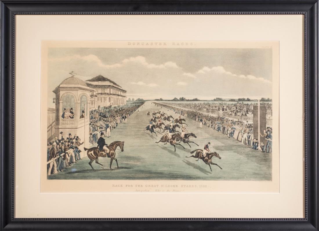 Pair of James Pollard Doncaster Races Prints - 2