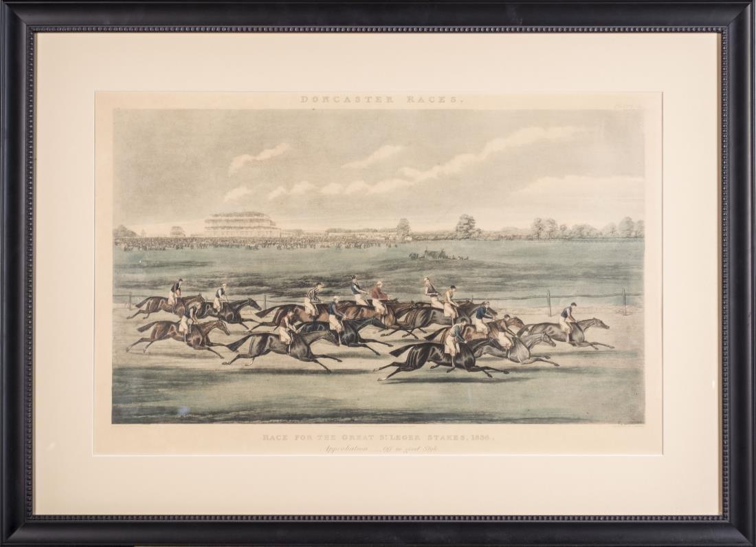 Pair of James Pollard Doncaster Races Prints - 3