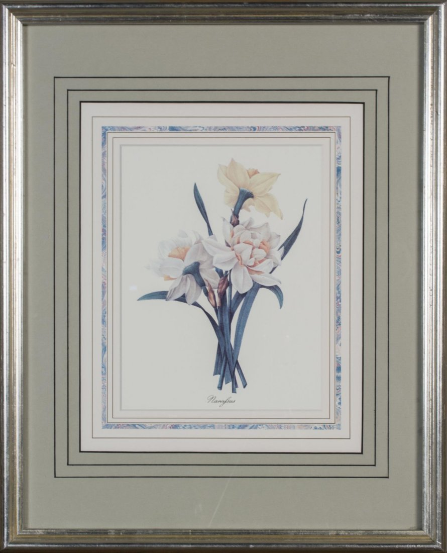 Group of Six Decorative Floral Prints - 7