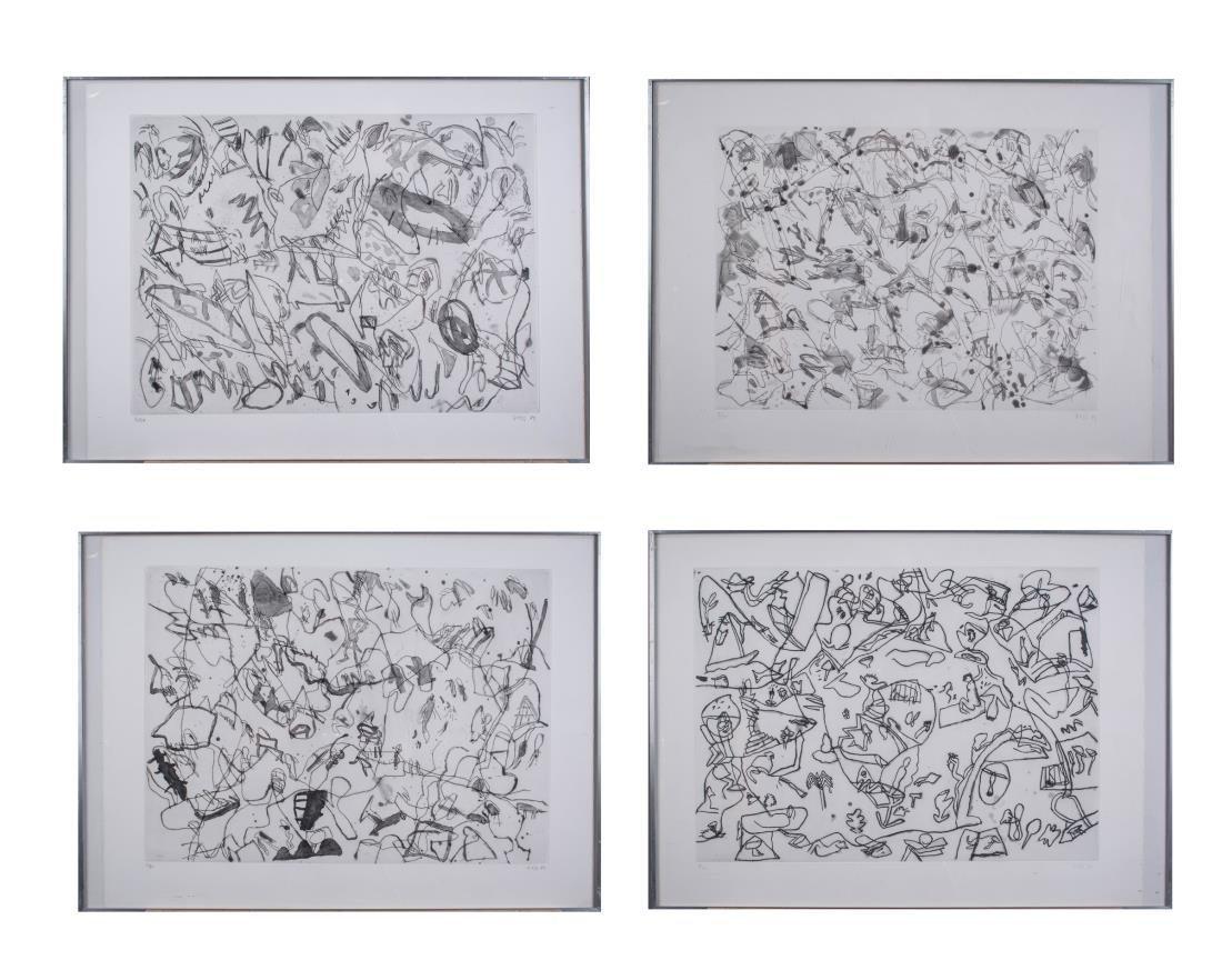 Four Prints by Jan Voss (German, b. 1936)