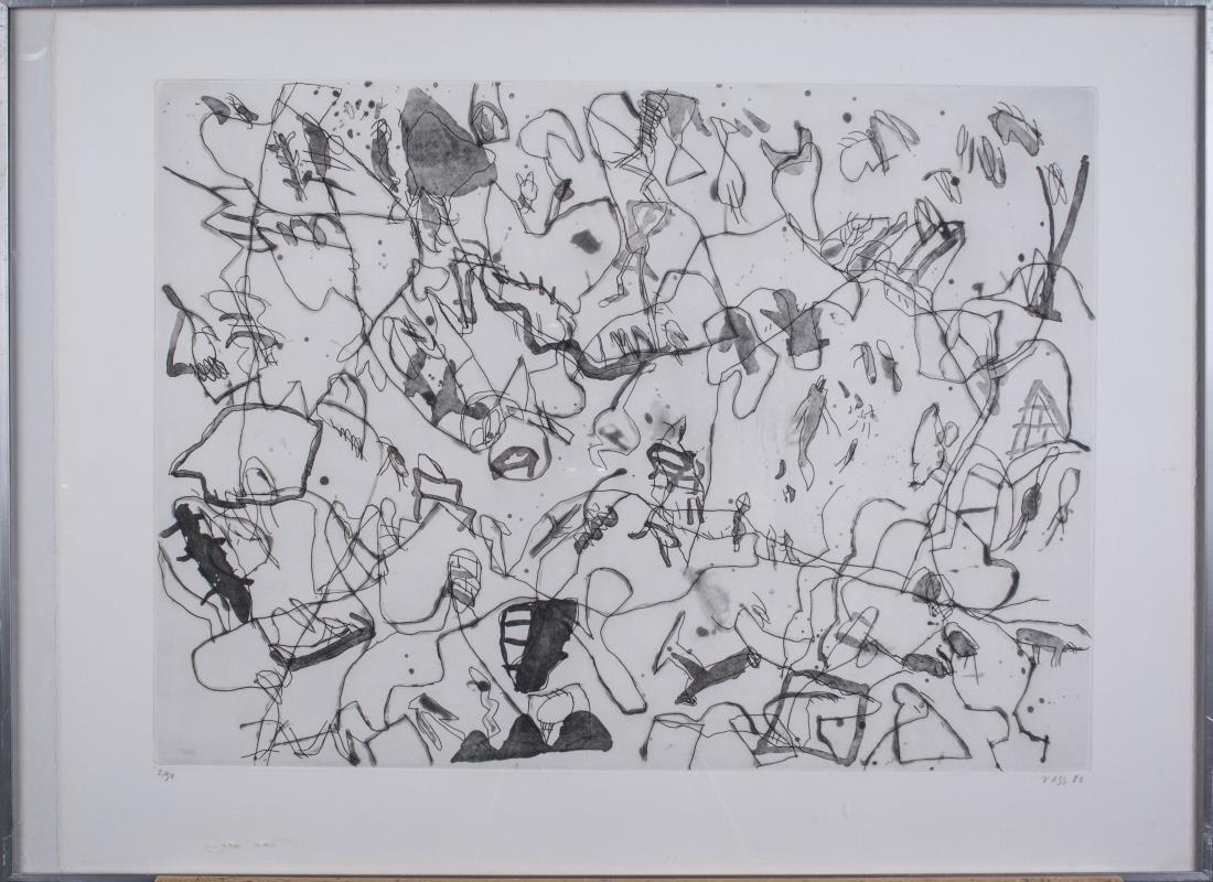 Four Prints by Jan Voss (German, b. 1936) - 2