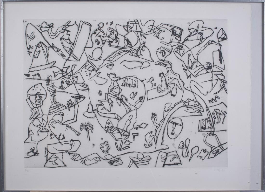 Four Prints by Jan Voss (German, b. 1936) - 3