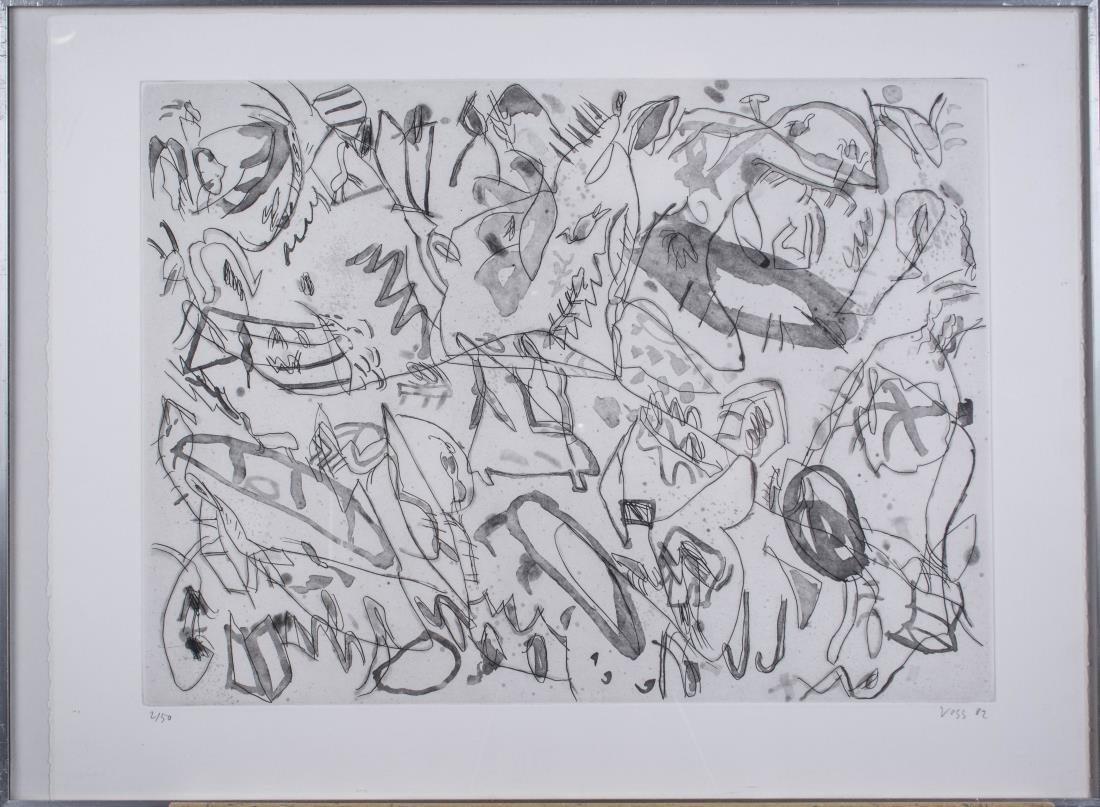 Four Prints by Jan Voss (German, b. 1936) - 4