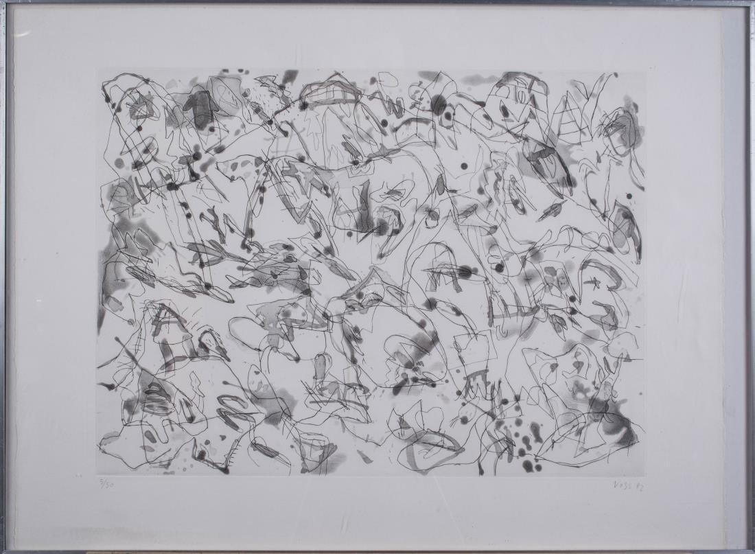 Four Prints by Jan Voss (German, b. 1936) - 5