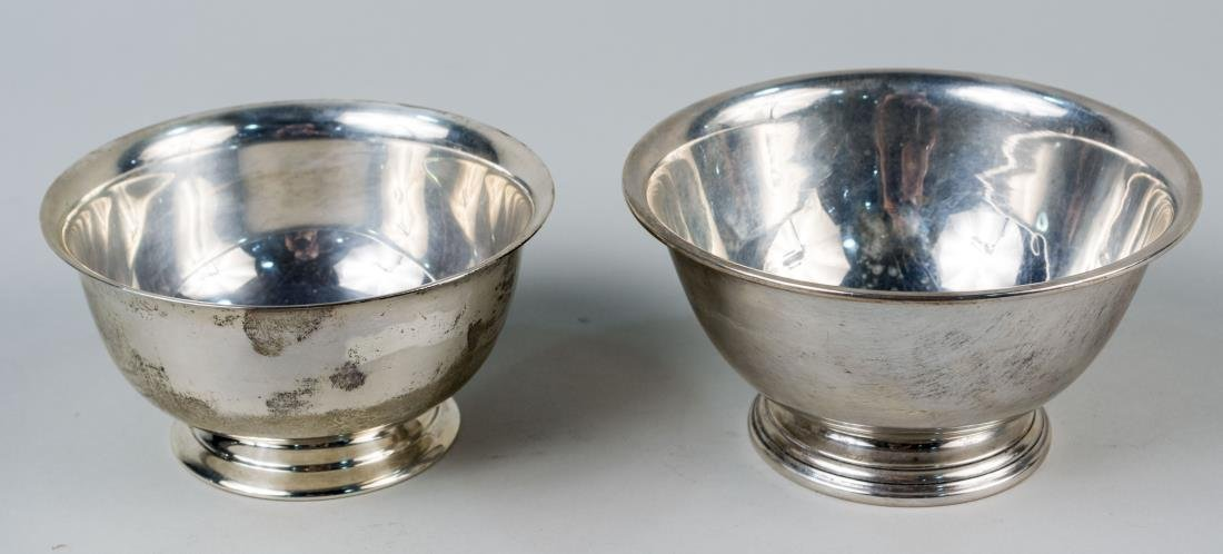 Two American Sterling Silver Revere Bowls