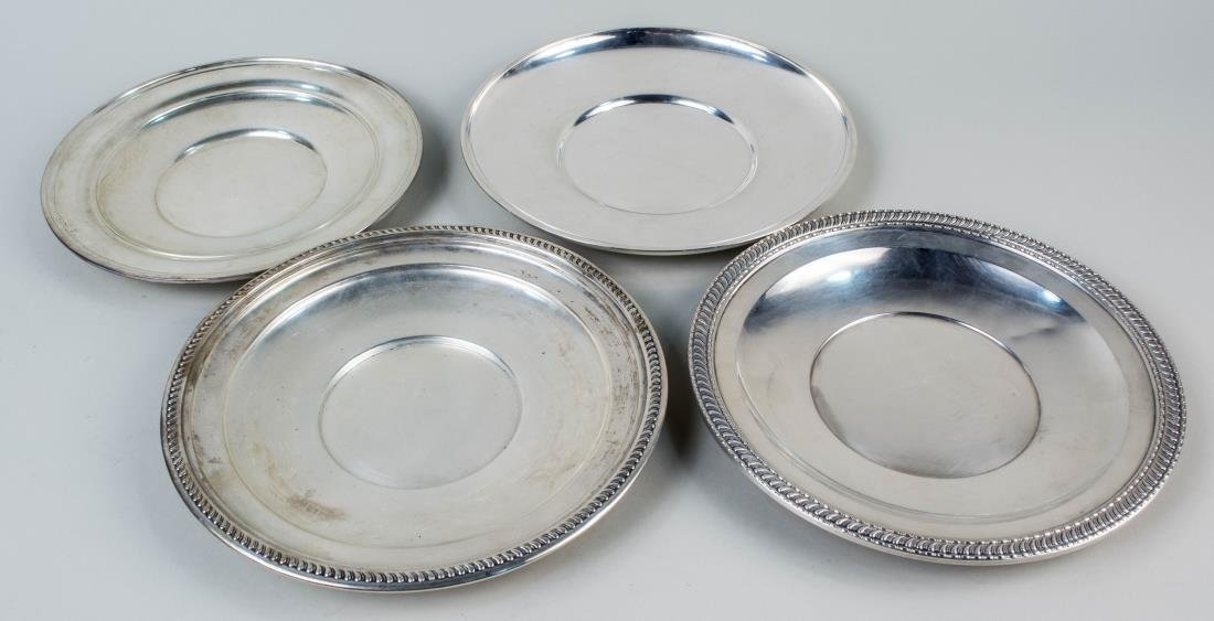 Four American Sterling Silver Trays