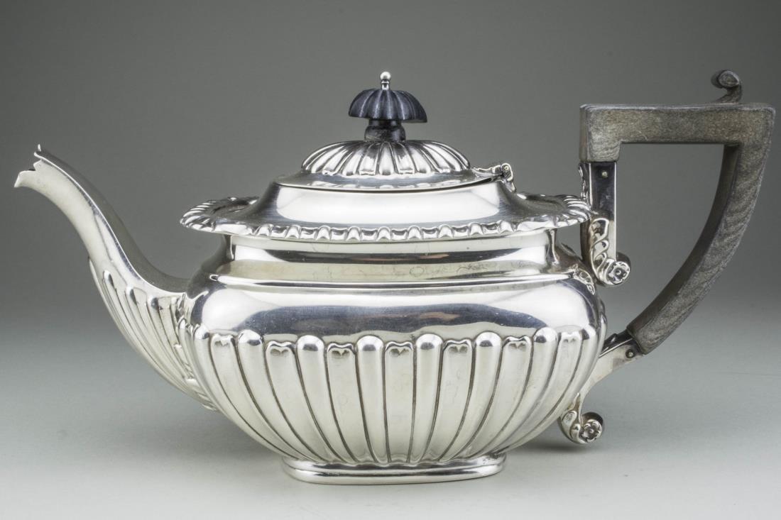 English Silver Teapot   *